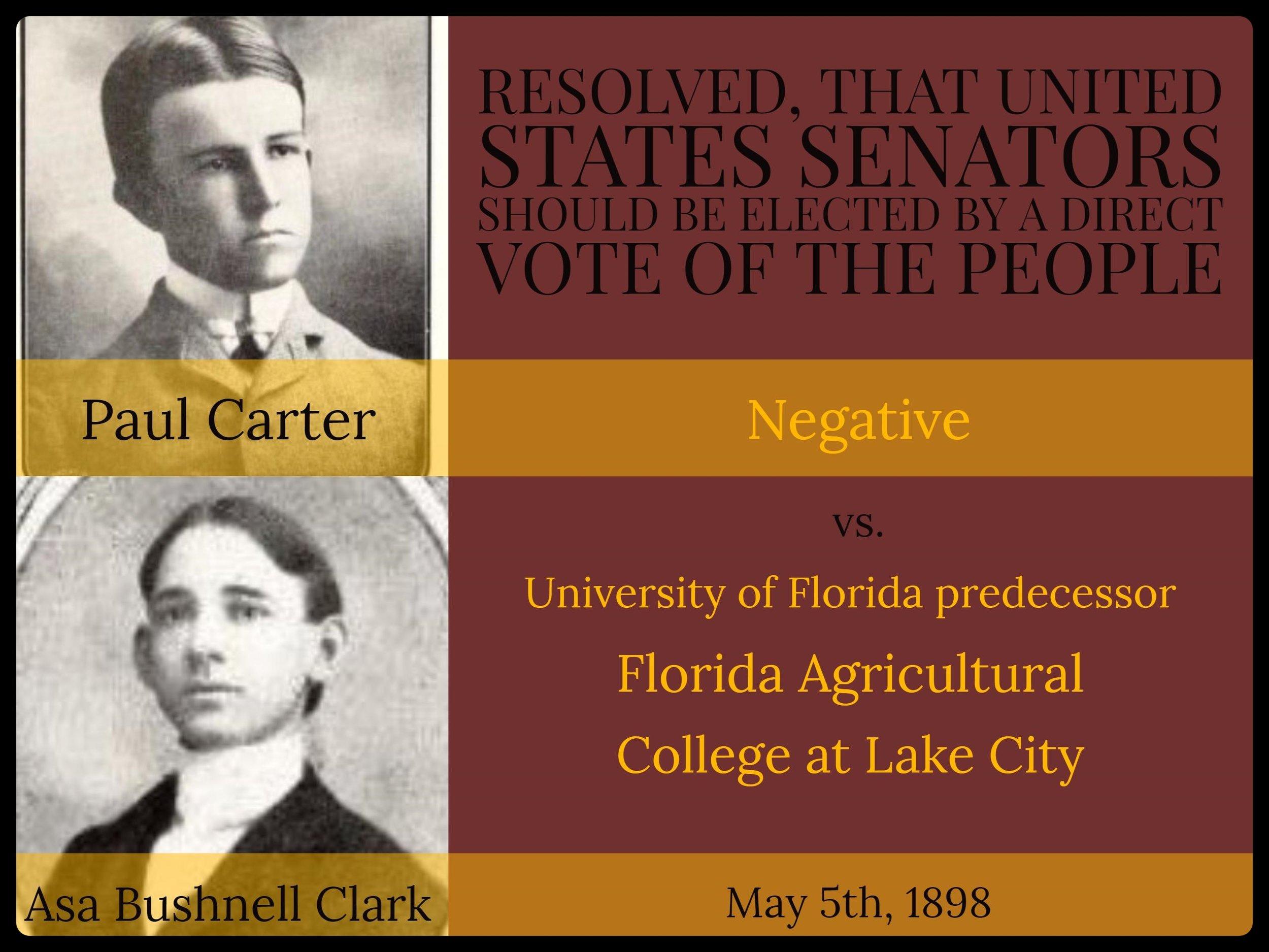 1897: Carter & Clark