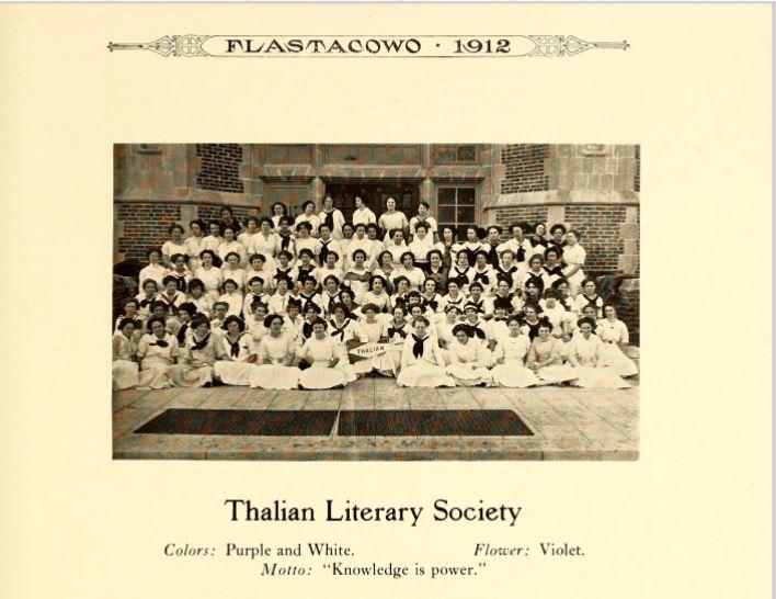 Thalian Literary Society 1912