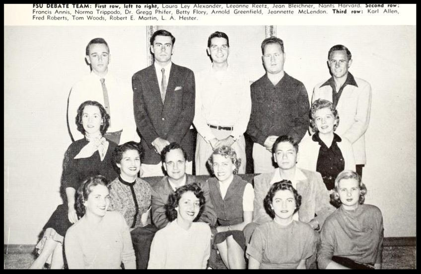 1955 - 1956 Florida State Debate Team