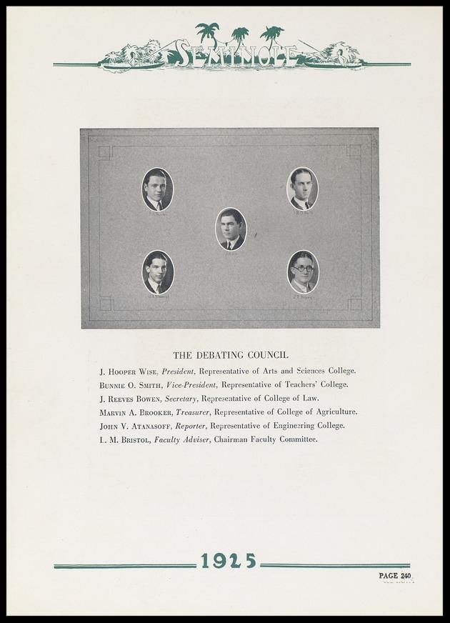 1925 University of Florida Debating Council