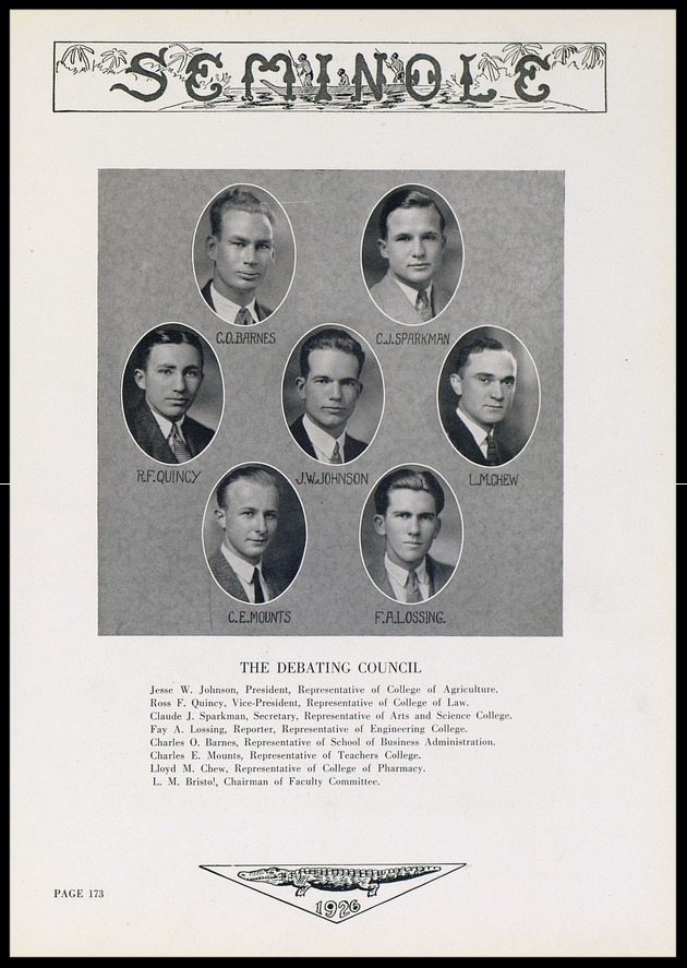 1926 University of Florida Debating Council