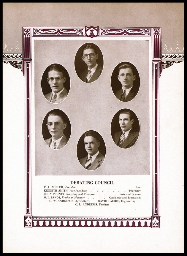 1930 University of Florida Debating Council