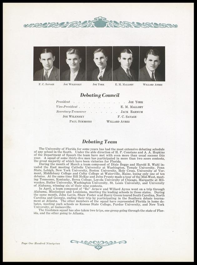 1931 University of Florida Debating Council