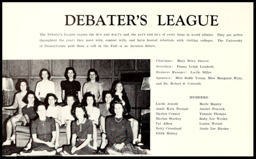 1941 - 1942 Debater's League