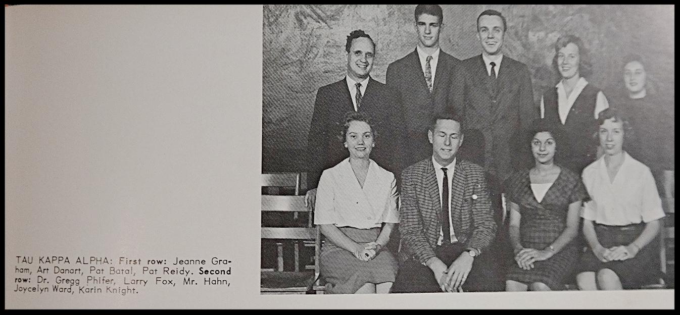 Tau Kappa AlphaHonor Society - Photos: Florida State University Libraries, 1961