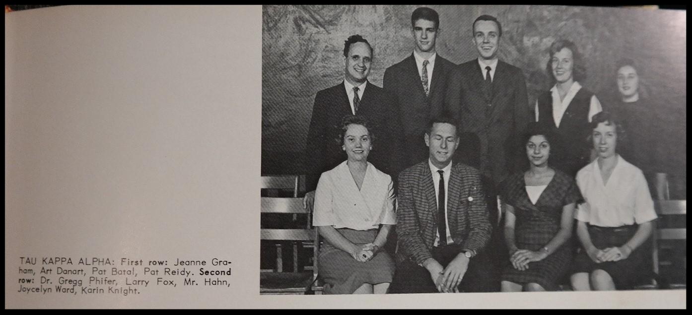 1960 - 1961 Tau Kappa Alpha Honorary