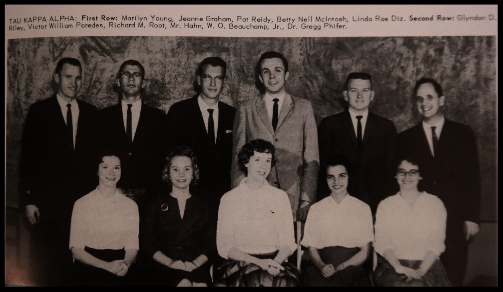 1961 - 1962 Tau Kappa Alpha Honorary