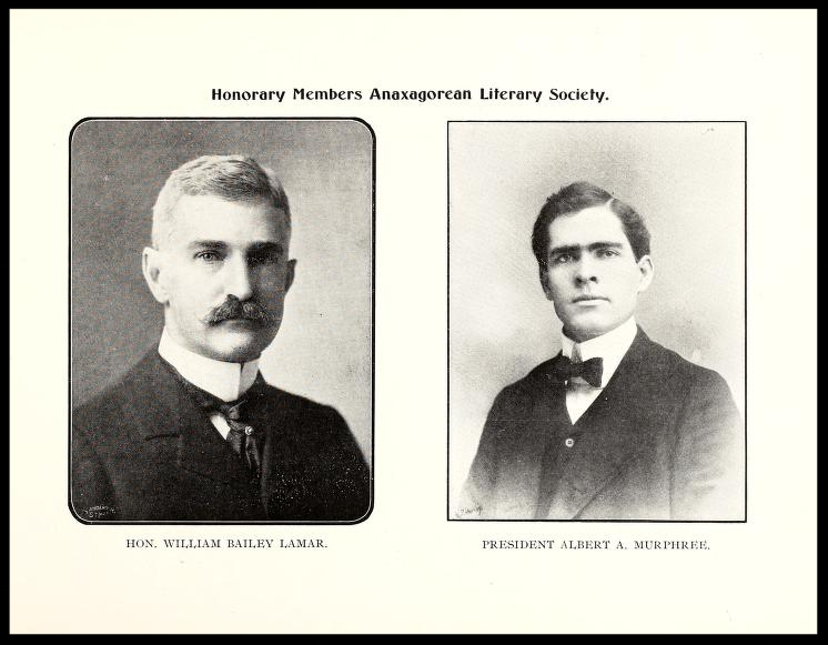 Honorary Members Anaxagorean Society 1900 - 1901