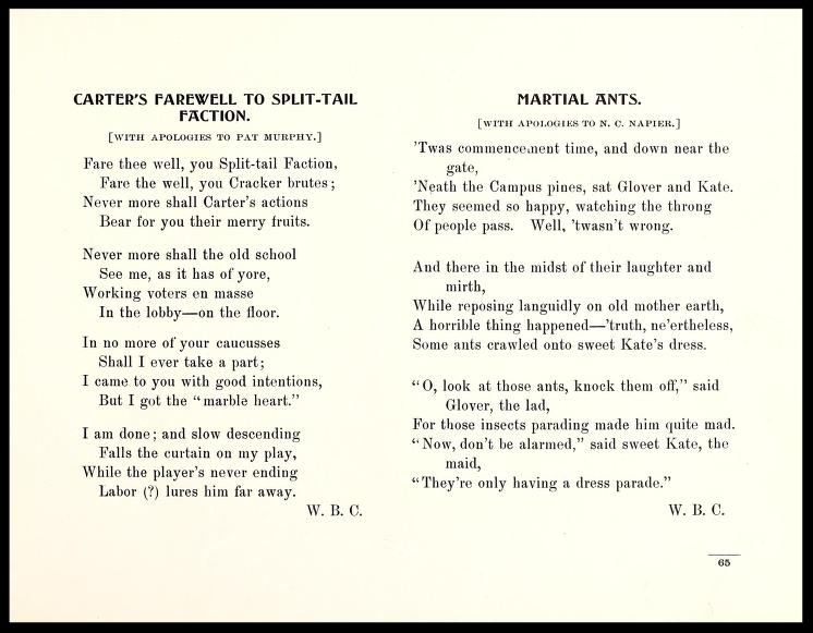 Poem about the Split in 1900