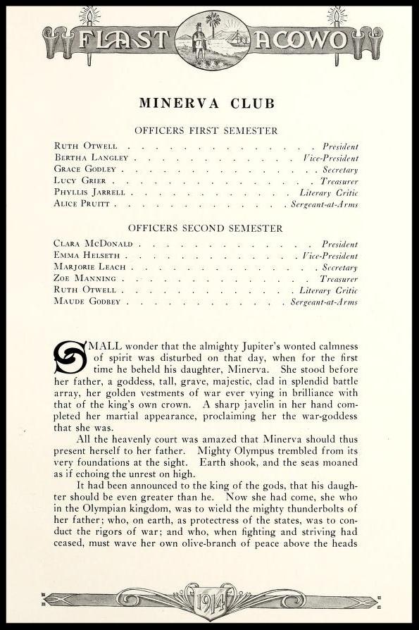 Minerva Club Officers & Story