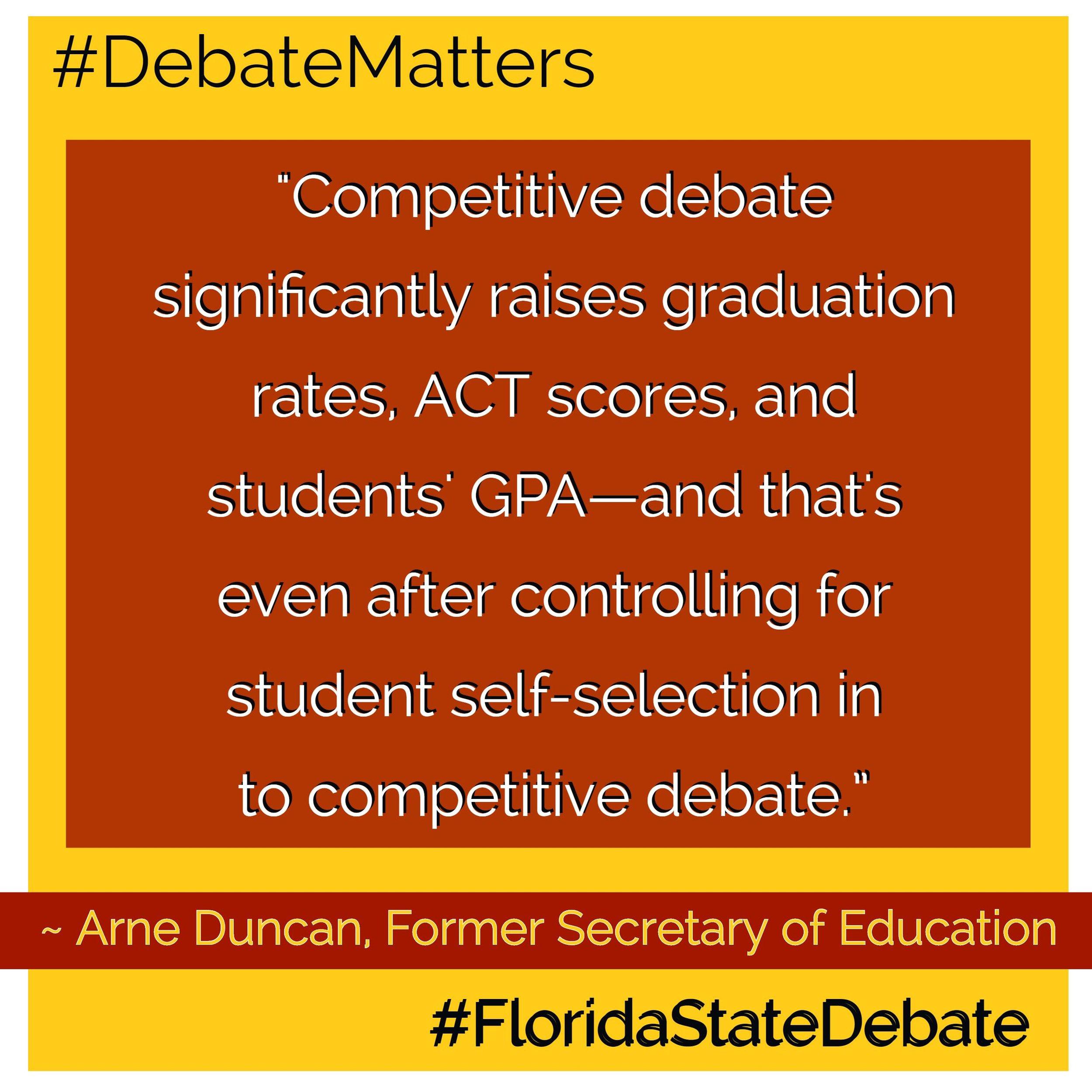 #DebateMatters Arne Duncan