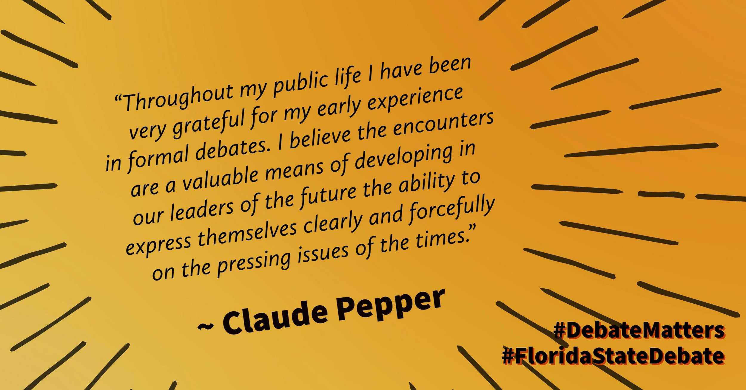 #DebateMatters Claude Pepper