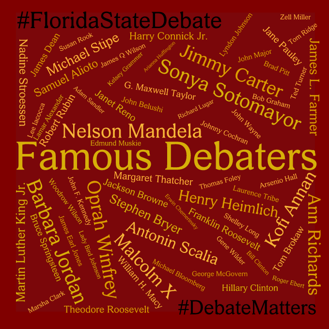 #DebateMatters Famous Debaters 2