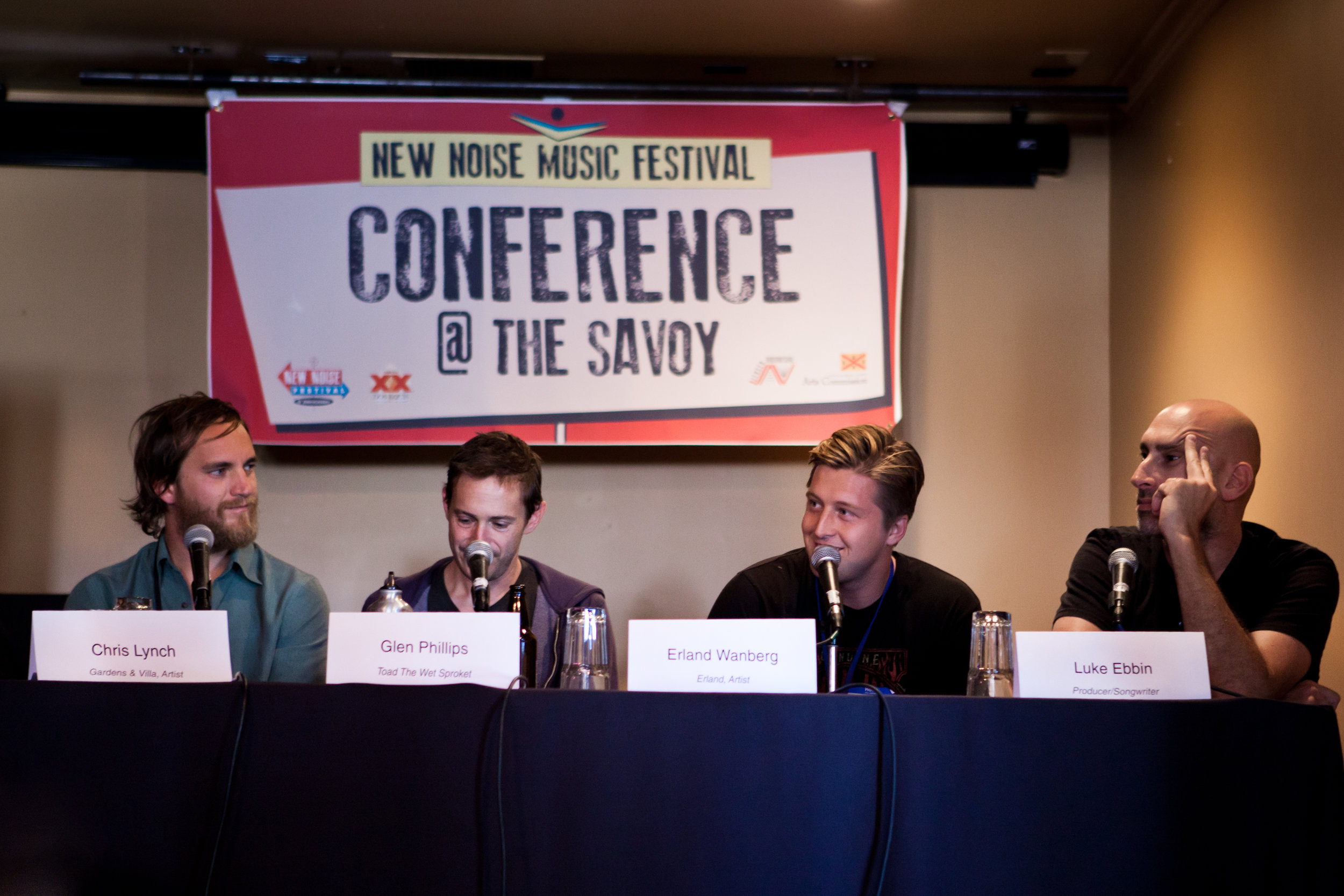 Erland as a guest speaker at the  New Noise  Music Festival conference.