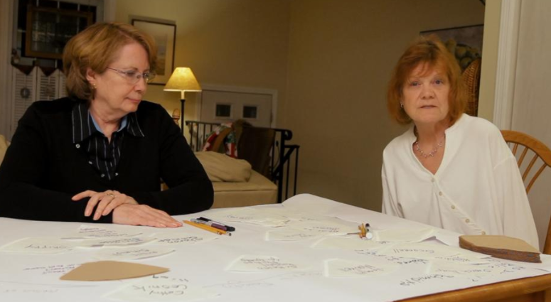 Former students of Sister Cathy: Abbie Schaub and Gemma Hoskins (Netflix)