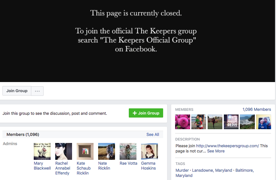 This is the closed group on Facebook, which has a bit over 1,000 members.