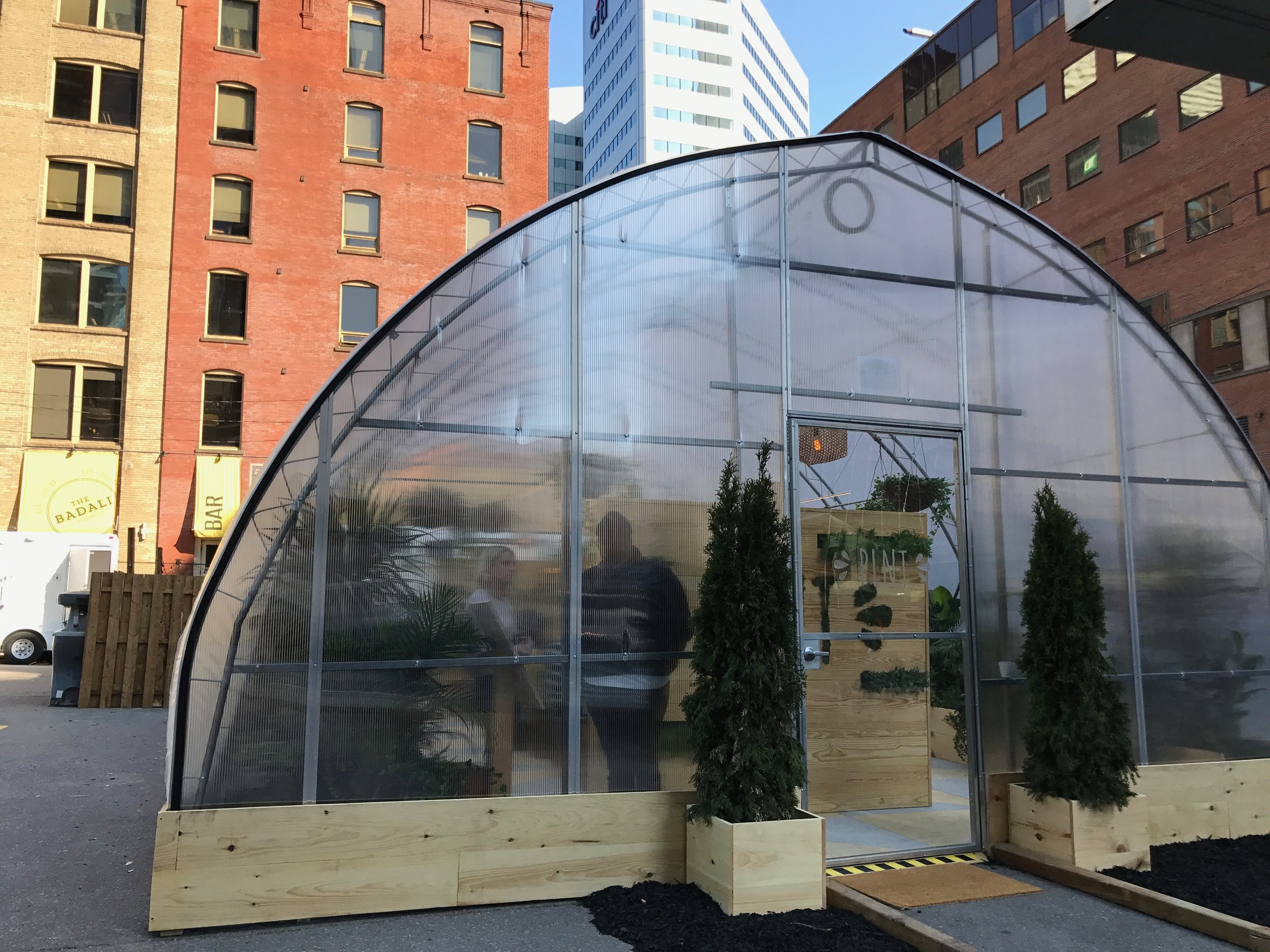 The pop-up greenhouse at Front and Simcoe