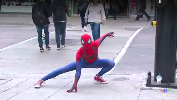 'Withgreat power comes great responsibility' - Toronto Spiderman says after subduing alleged shoplifter