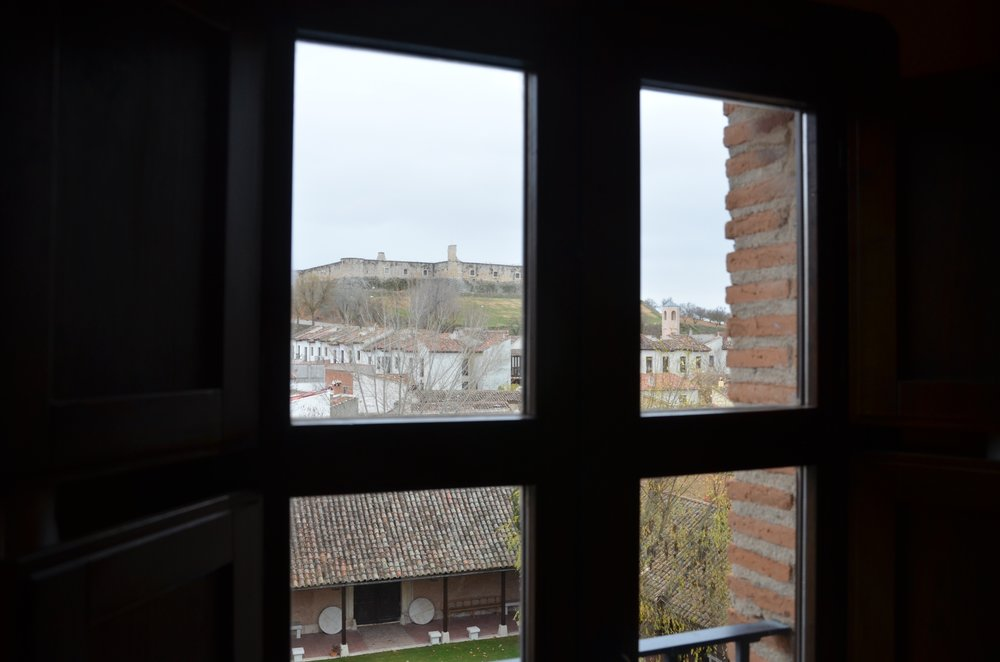 The view from the room at the  Parador de Chinchón