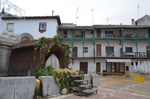 Main square with a Nativity scene