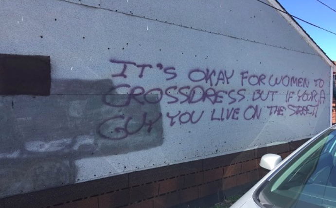 Couple shocked after discovering homophobic graffiti on garage in Little Portugal - A Little Portugal resident said he was overwhelmed by the love and support he has received after homophobic phrases were spray-painted on his garage.