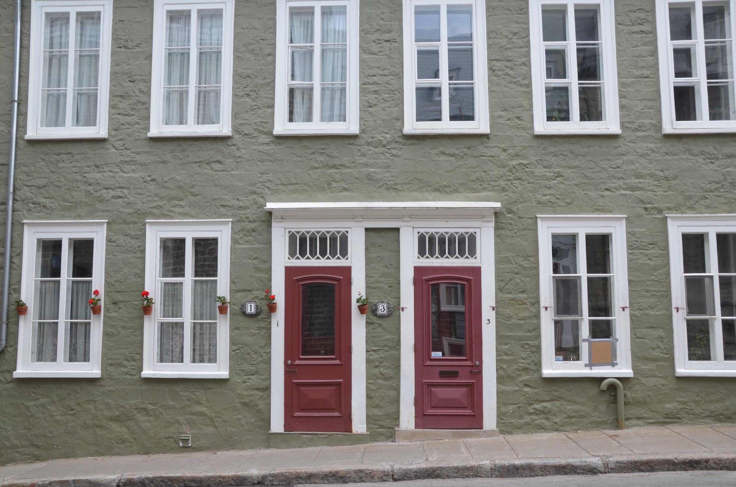 Quebec City apartments in June.