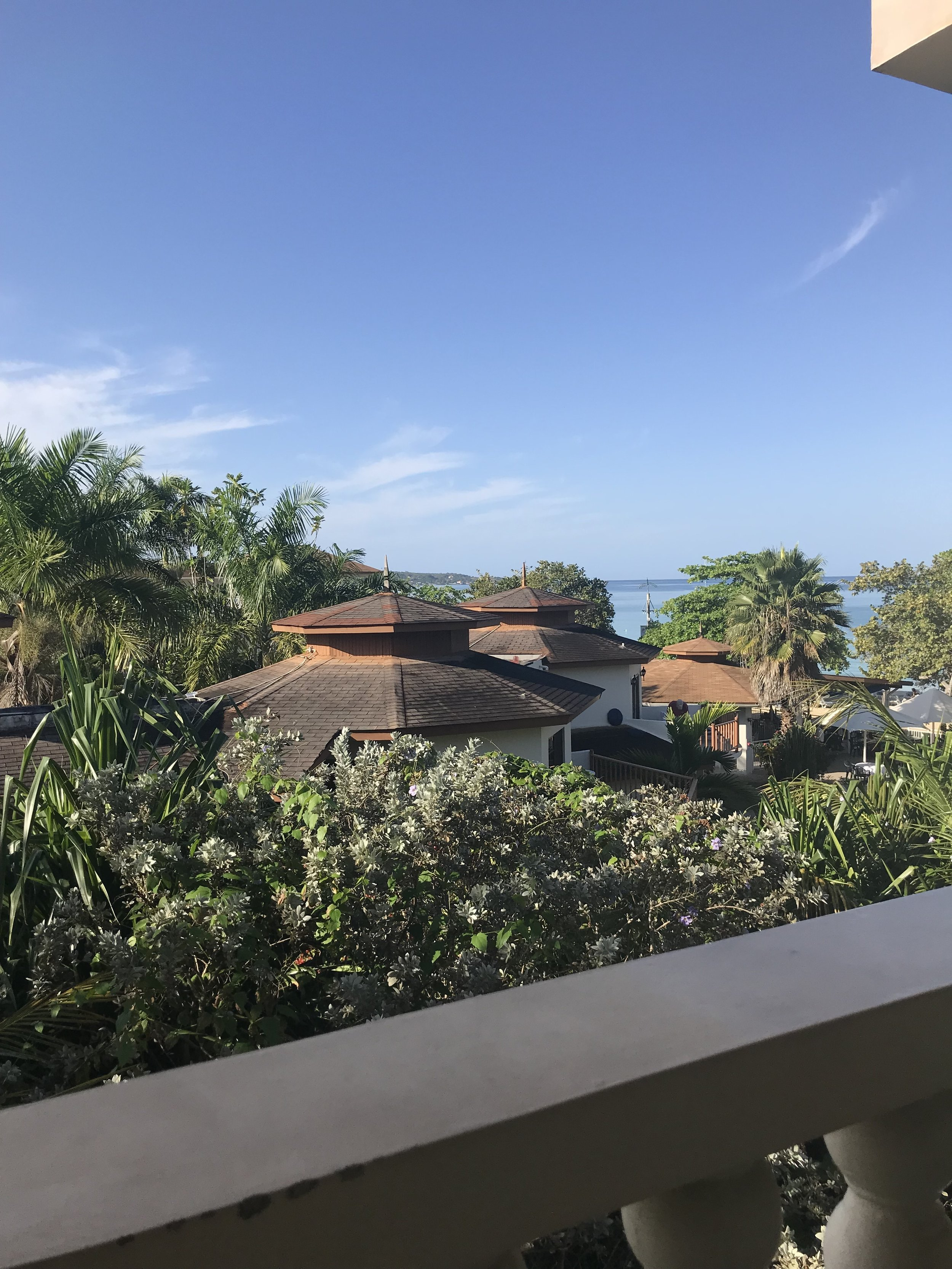 View from the balcony at Sandy Haven.