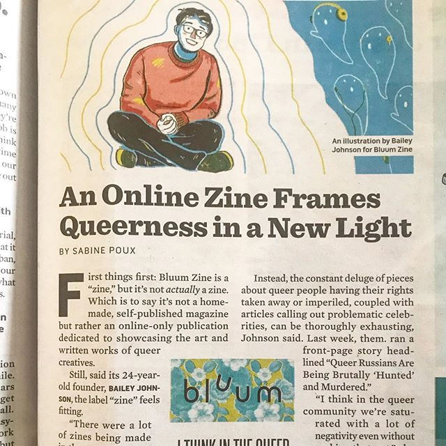 Look out world, it's baby's first newspaper interview! Totally humbled to have been interviewed for a featured piece in VT Seven Day's media issue to talk about Bluum and the importance of lavishing in the joy of our queerness in the face of those that try to take that away. If you want to read the full thing, I put a link in my bio! 🥰🥰