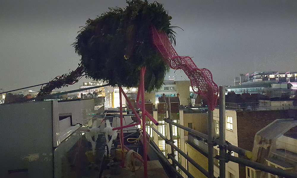 Sculptural bird for rooftop terrace - Diarmuid Gavin