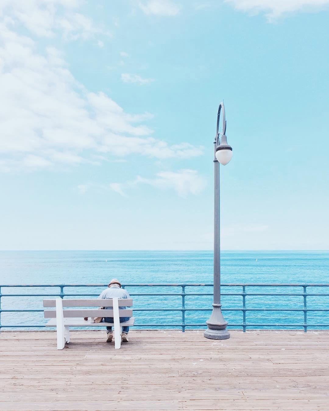 Foto no pier de Santa Mônica, California por @ danmagatti