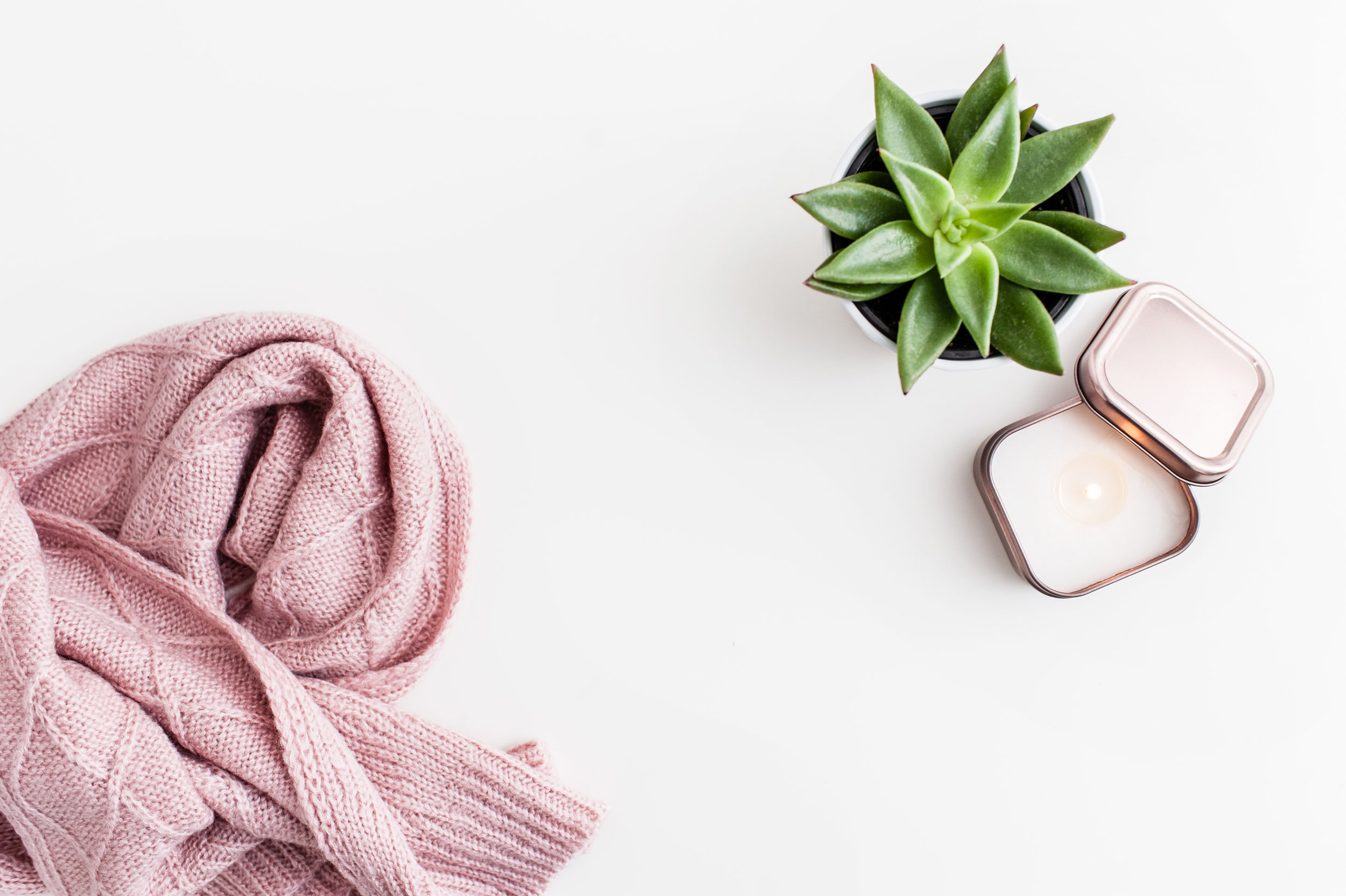 Scarf, Succulent, Candle.jpg
