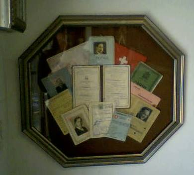 Display of Old Family Passports