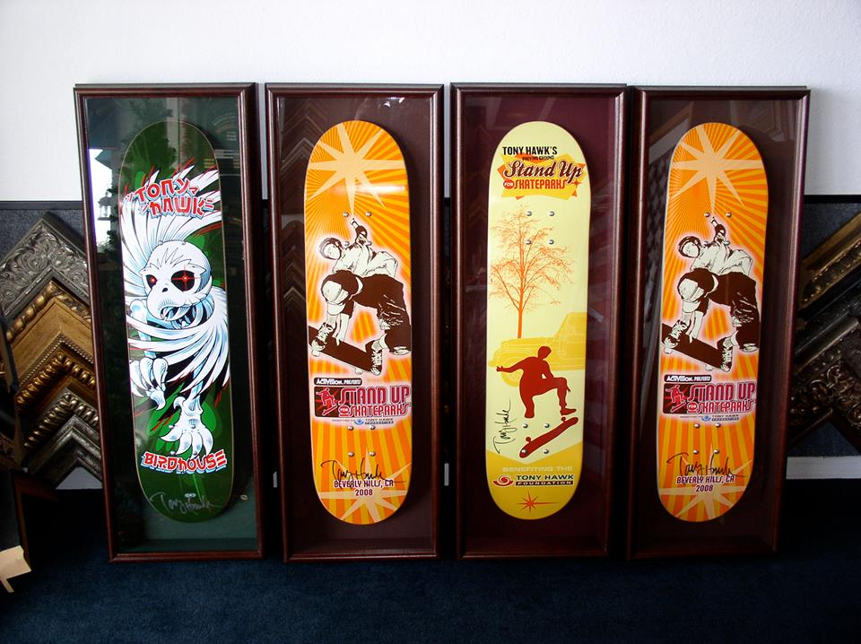 Skate Board Deck Collection, Shadow Boxed
