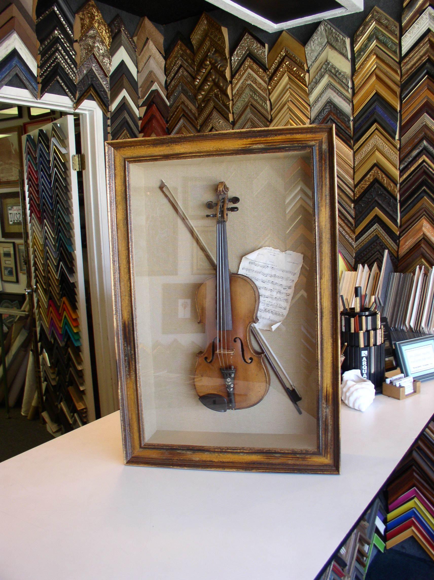 Shadow Boxed Family Violin