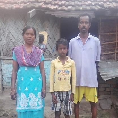 Ajit and his family, from Nangdala, India.