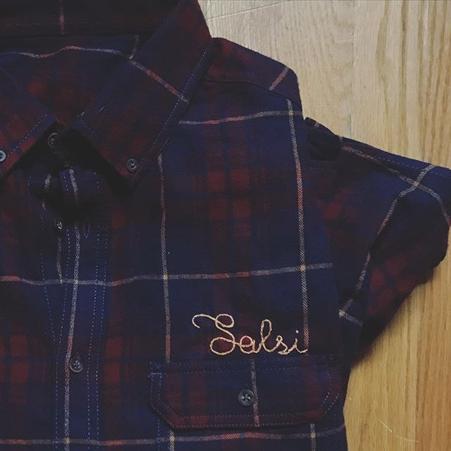 Hey y'all! Tryin to get some personalized stuff for the holidays? We'll be at @westsidebowl tomorrow at 4pm with some of our new flannels, some sale tshirts, + other odds & ends. Bring your own flannel, jean jacket, or tshirt, we'll personalize it for you, for $15, order one for $25. We'll have it back to you for pick up by the @youngstownflea's Holiday Flea ! Check this gem we made for our pal @salsidesigns