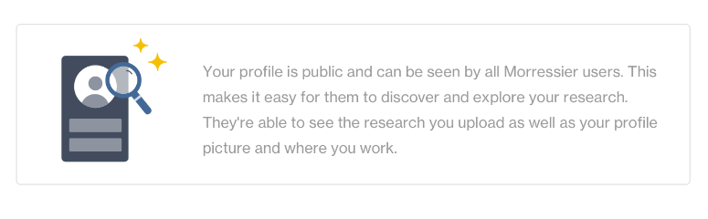 Your Morressier profile is public.