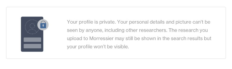 Your Morressier profile is private.