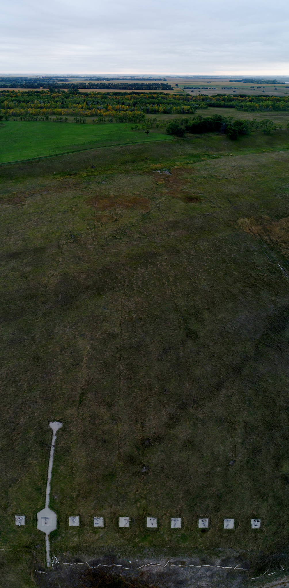 The abandoned Pipestem Rifle Range is seen in this composite image.