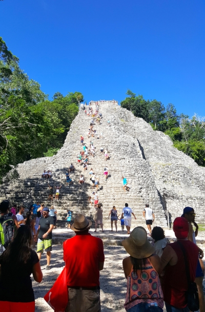 Coba Mayan Ruin- We ALL CLIMBED THE 120 STAIRS TO THE TOP AND THE VIEW WAS WORTH THE SWEAT!