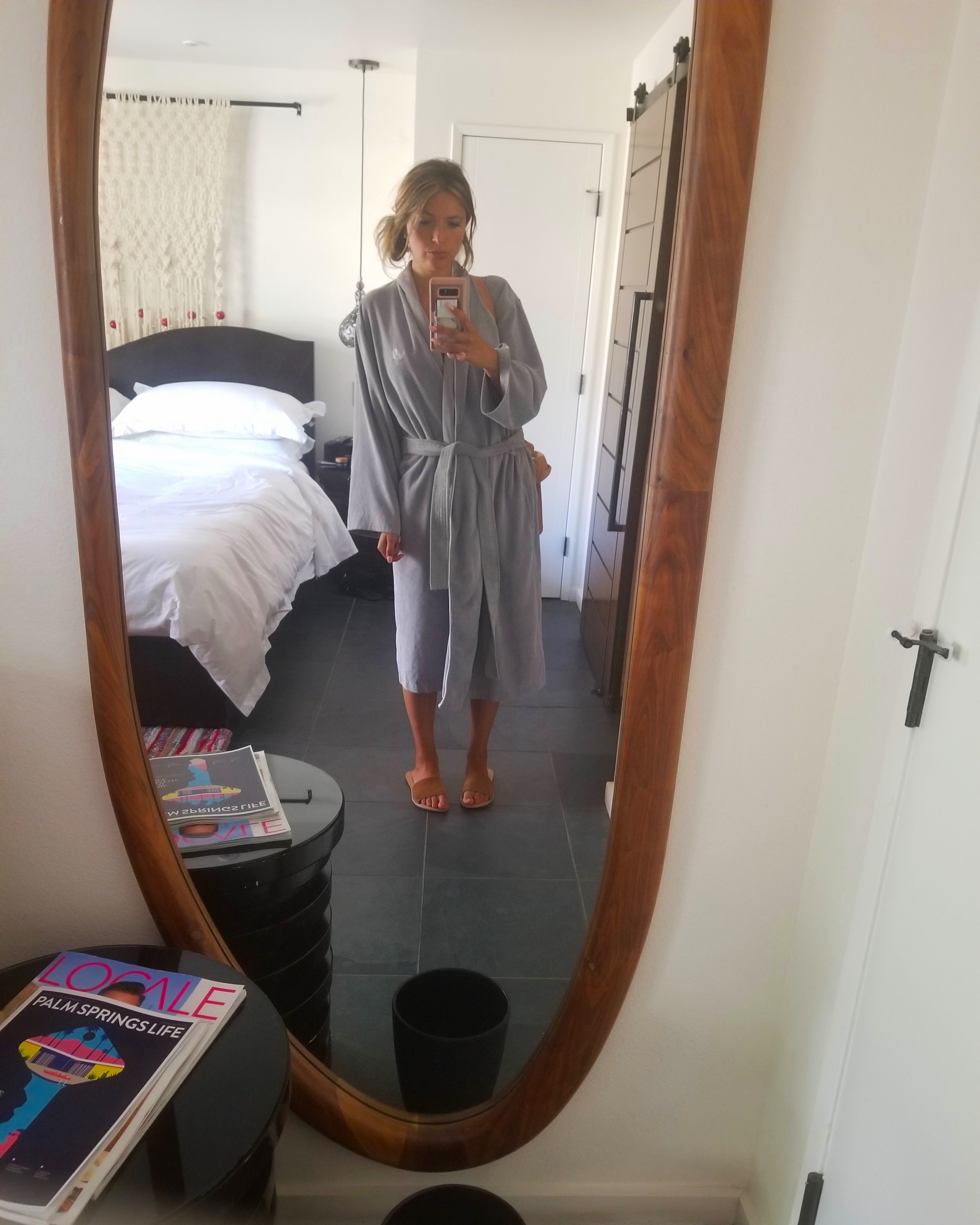 This was my uniform basically the whole time with a bathing suit underneath. Everyone on the property walks around in robes and even wear them to breakfast, lunch and dinner. Heaven not having to think about what to wear and to just focus solely on comfort and relaxation!