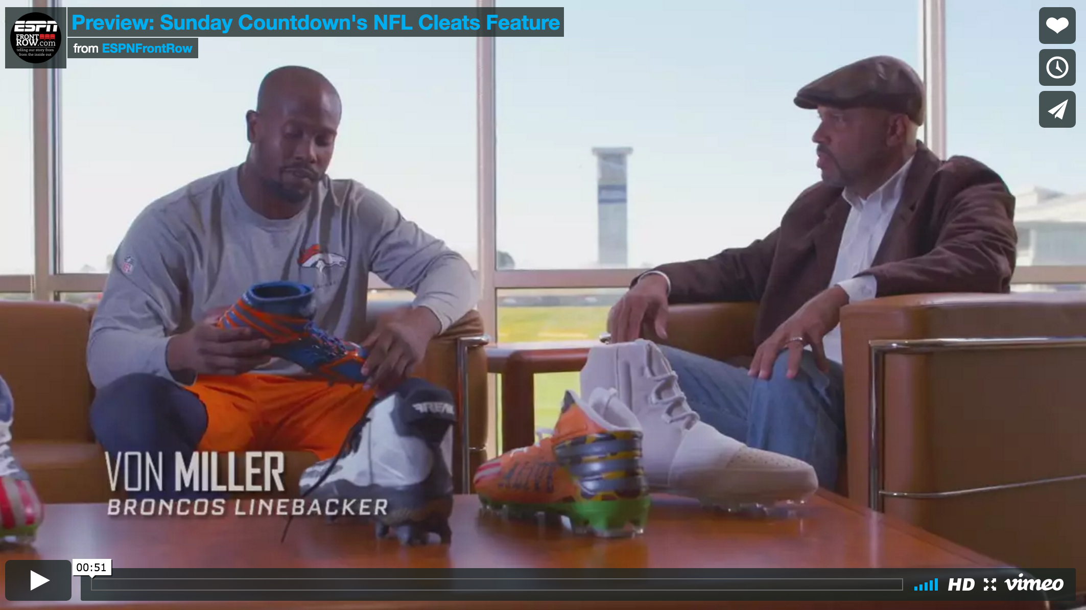 Sunday NFL Countdown | Von Miller Shoes For the Soul