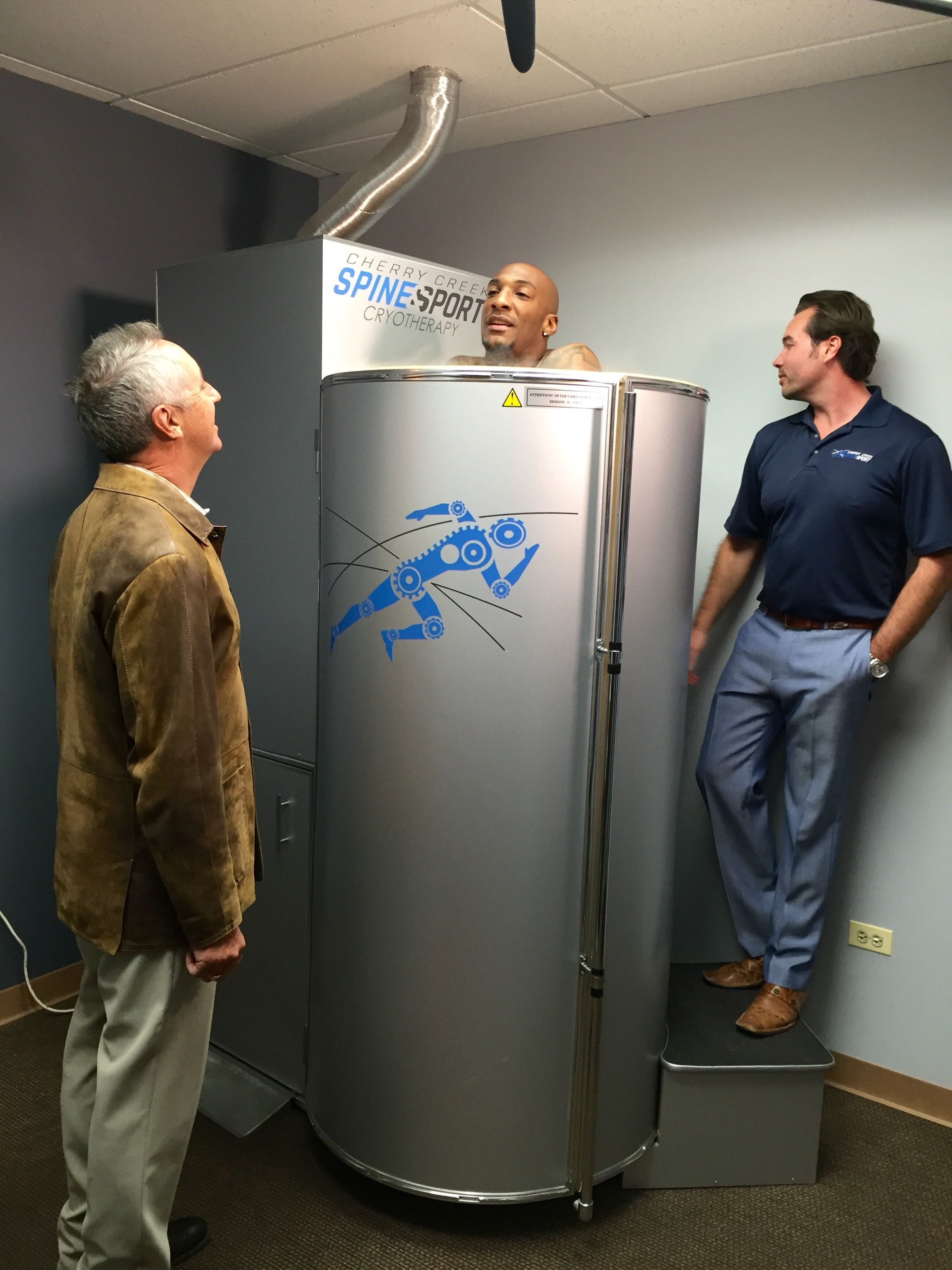 Aqib Talib in Cryotherapy Sauna