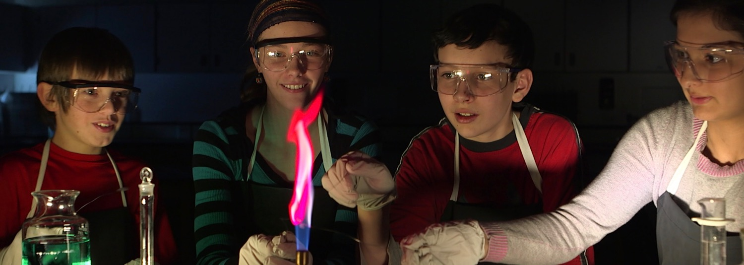 Filming science with kids