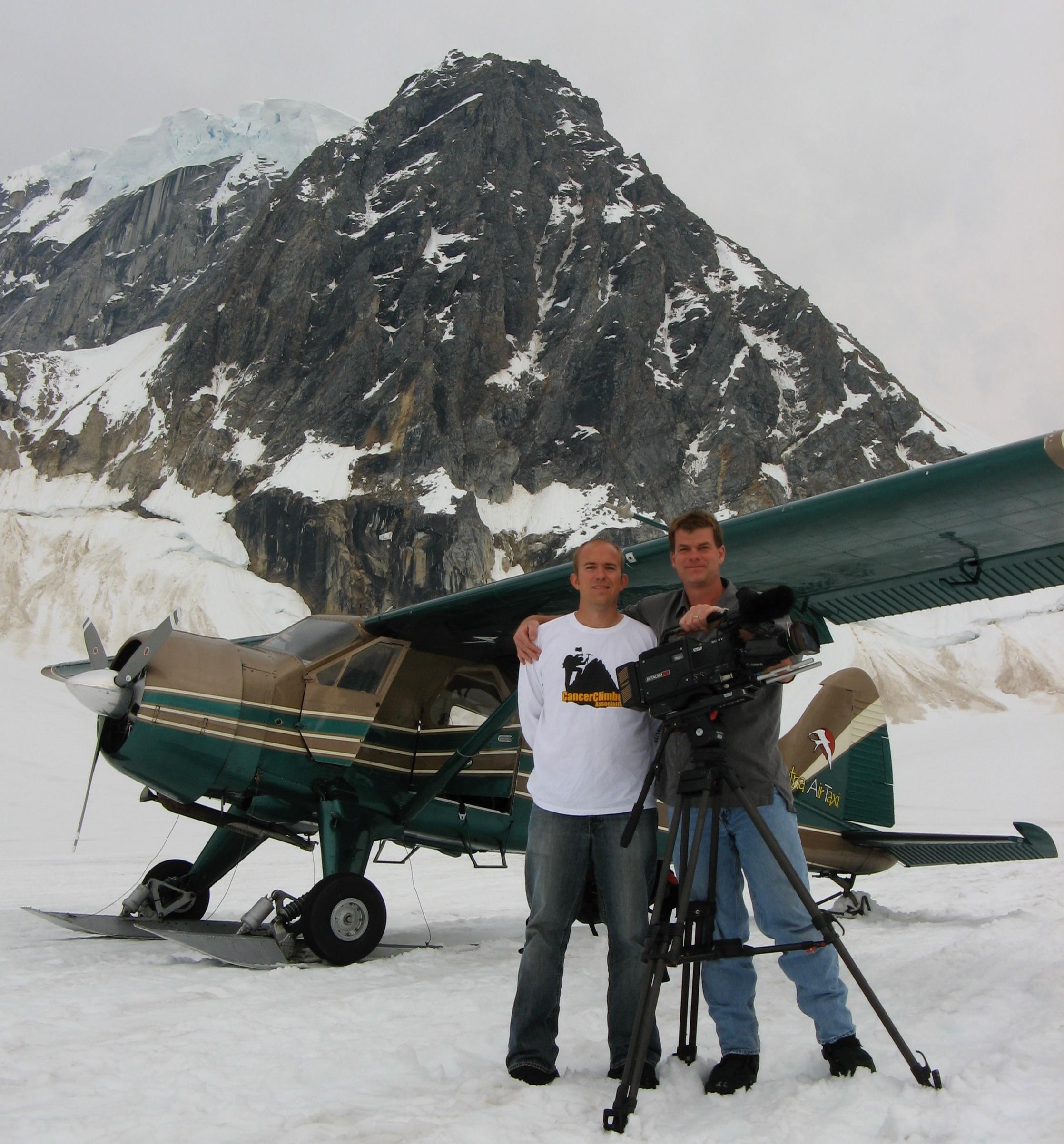 Tom & Trevor on a glacier in Denali