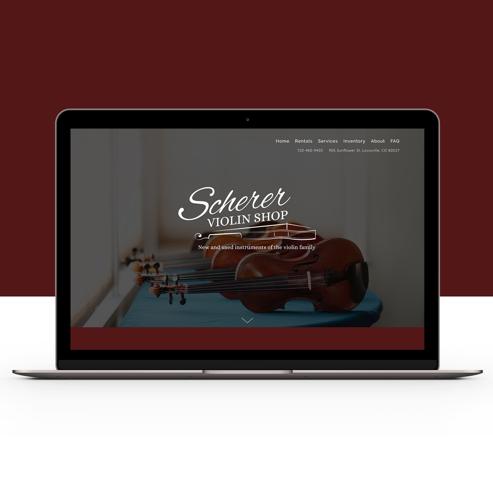 Scherer Violins Web Design