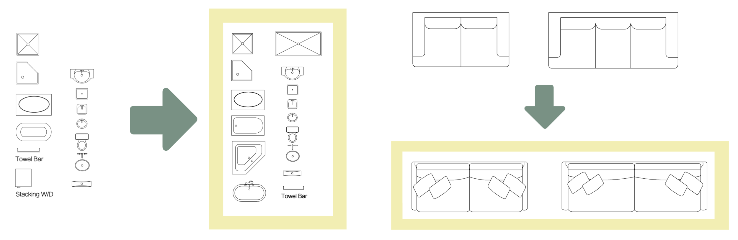 SketchUp 2D template blocks