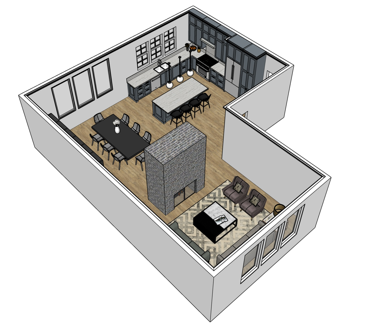 3D Models - The ability to design and draw in 3D will not only help sell your designs to your clients, but it will also help you think through and problem areas in your design.Let's take your floor plans and transform them into 3D models!