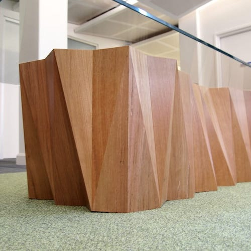 Folded - Reception area table commissioned by the University of Melbourne.