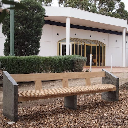 Memorial Bench - Bench for the Anglican Church, Mt Eliza in memory of a longstanding parishioner.